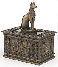 Bastet Jewelry Trinket Box Statue Egyptian Goddess Cat Bast Sculpture Figurine