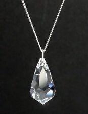 Hals-Kette mit Swarovski® Kristall Tropfen schlicht Schmuck als Geschenk in Etui