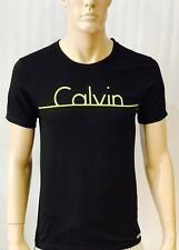 Calvin Klein  Crew Neck Lime Black T Shirt