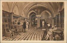 Dresden Germany Hotel Stadt Gotha Lobby c1920 Postcard
