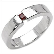 Damen Ring Lydia, 925er Silber, 0,08 Kt. Granat, Gr. 55