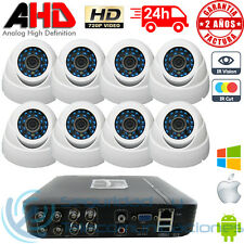 KIT AHD 720p DVR 8CH H264 + 8 CAMARAS INTERIOR MINI DOMO HD CCTV VIDEOVIGILANCIA