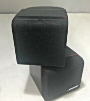 Used Black Bose Redline Double Cube Speakers Lifestyle/Acoustimass