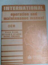 International Harvester D400 Series Diesel Engine Manual, 1981 Industrial size!
