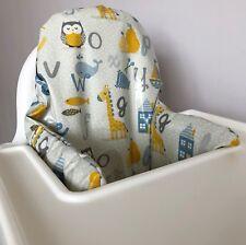 IKEA klammig/pytig ANTILOP Seggiolone Alfabeto lavabile di alta qualità Grigio Copricuscino