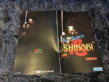 Color Custom Manual SUPER SHINOBI SEGA Mega Drive JAP Version - AAA+++