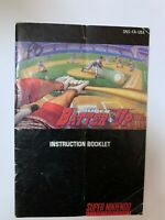 Super Batter Up Super Nintendo SNES Instruction Booklet Book Manual Only