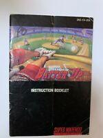 Super Batter Up Super Nintendo SNES Instruction Booklet Book Manual Only