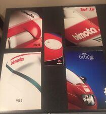 5 Original Vintage Bimota Sales Brochures, Dieci,Tesi 1D,YB8,DB2,Full Line LOT A