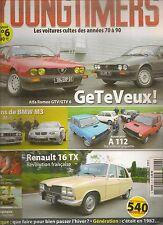 YOUNGTIMERS 6 ALFA GTV GTV6 106 RALLYE BMW M3 1988 2009 AUTOBIANCHI A112 R16 TX