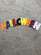 """Brand New - """"HALLOWEEN"""" Felt Letters - Halloween Themed Colours - 3.5"""" Approx."""