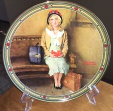 """VTG ROCKWELL PLATE,IST ISSUE/ROCKWELL'S AMERICAN DREAM """"A YOUNG GIRLS DREAM""""1985"""