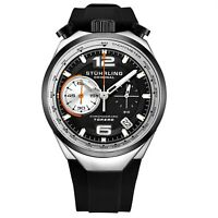 Stuhrling 894.02  VK Men's Japan Chronograph Rubber Strap Bullhorn Pusher Watch