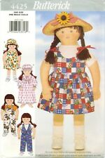 Butterick 4425 My Little Sister DOLL Clothes 35 inch tall sewing pattern UNCUT