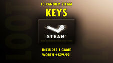 Random and PREMIUM Steam Key Loot (10 PACK: Guaranteed x1 +£29.99 GAME)