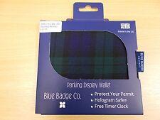 Blue Badge Parking Display Wallet - Green Tartan