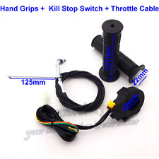 Hand Grips Throttle Cable Kill Switch Push Bike 49 50 66 80 cc Motorized Bicycle