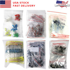 1390Pcs Electronic Components LED Diode Transistor Capacitor Resistance Kit  USA