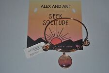 Alex and Ani Bracelet Shiny Rose Gold Seek Solitude NWT and card
