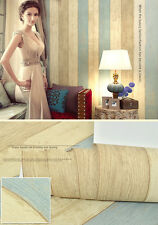 Realistic Shabby Chic Pastel Distressed Wood Panel Effect Feature Wall Wallpaper