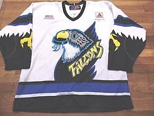 GAME WORN VINTAGE SP AHL SPRINGFIELD FALCONS HOCKEY JERSEY SIZE 56