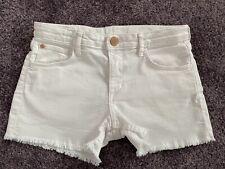 H&M +++ kurze Jeans   weiß   Gr. 146 - mit Taschen - einstellbaren Hosenbund