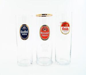 12 Kölsch Gläser im MIX  0,2l - 4 FRÜH, 4 GAFFEL, 4 REISSDORF Kölschglas -NEU-