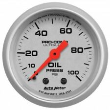 "Auto Meter 4321 2-1/16"" Ultra-Lite Mechanical Oil Pressure Gauge, 0-100 PSI"