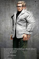 mcs0138 Grey Clothing Set Jacket+Sleeve+Pants+Belt+Shoes+Glasses for 1/6 Figure