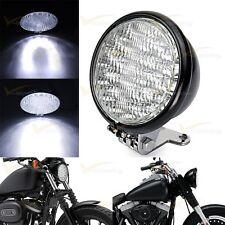 "Black Motorcycle Headlight 5"" LED Head Lamp For Harley Bobber Chopper Touring"