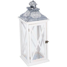 XL Laterne Holz Metalldach 59cm Windlicht Deko Kerze Kerzenhalter Teelicht V#10