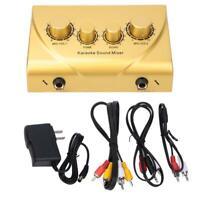 Mini Karaoke Sound Mixer Dual Microphone Input for Stage KTV Room 100-240V