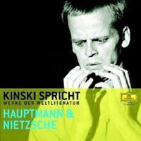 KLAUS KINSKI - KINSKI SPRICHT HAUPTMANN UND NIETZSCHE  CD NEW