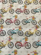 BICYCLES 100% Cotton Fabric by the Half Yard