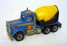 MATCHBOX PETERBILT CEMENT TRUCK Vintage Die-Cast Blue Vehicle 1981