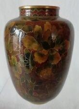 Petit vase cloisonné en bronze d'origine Chine décor de Fleurs XIX / XXe ?