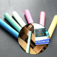 12x/Lot Chalk Pen Drawing Chalks For School Blackboard Stationary 6 Colors K8Q6