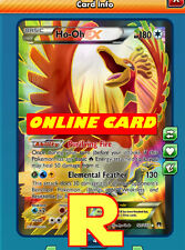 FA Ho-oh Ex - Full Art - for Pokemon TCG Online ( digital ptcgo in Game Card)