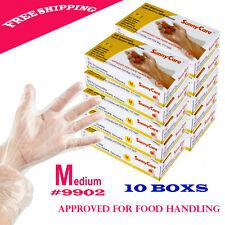 5000pcs Poly HDPE Food Handling Service-Disposable Gloves Latex Free Size:Medium