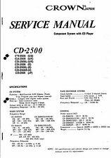 Crown  Service Manual für Model CD-2500