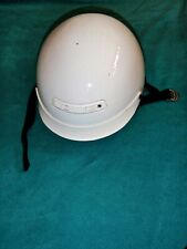 Z1R WHITE MOTORCYCLE HALF HELMET WITH REMOVABLE VISOR DOT APPROVED SIZE L 7 3/4