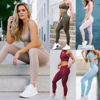 Women Seamless High Waist Fitness Yoga Leggings Gym Stretch SportsPants Trousers