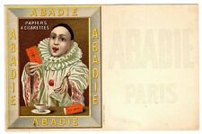 POSTCARD FRENCH ABADIE CIGARETTE PAPERS PIERROT (NP)