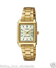 LTP-V007G-9E Gold Casio Ladies Women Watches Stainless Steel Band Brand-New
