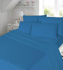 4PCS 100%COTTON THERMAL Flannelette Sheet set (Fitted,Flat,Pillow) BEDDING SET