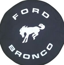 "SpareCover® Brawny Series - FORD BRONCO 30"" - 31""  Black Denim Vinyl Tire Cover"