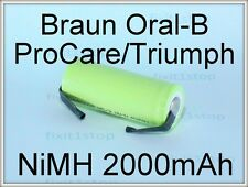 NEW NiMH Battery 2000mAh Braun Oral-B Pro Series Toothbrush Type 3762 4736