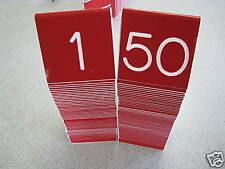 Tent Style Engraved Table Numbers 1-12