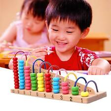 Wooden Abacus Counting Beads Children Kids Maths Learning Educational Toy Gift