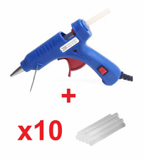 New Electric UK IRL EU Plug Power Hot Melt Glue Gun + 10x Glue Sticks 7mm #339